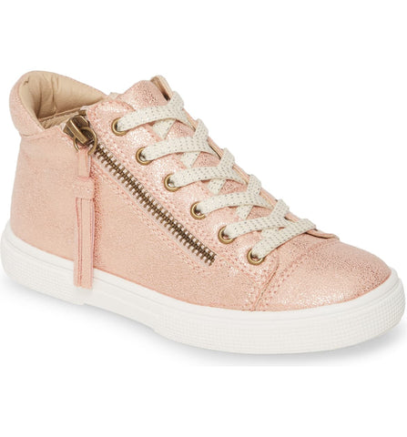 Runaround Metallic High Top Sneaker Rose Gold