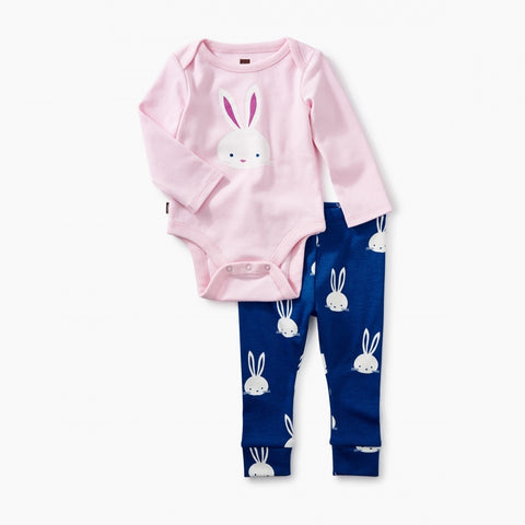 2-Piece Bodysuit Baby Outfit -PINK CREPE
