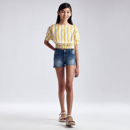 Basic denim shorts: Medium