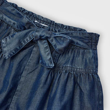 Ecofriends denim loose shorts: Dark