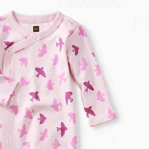 Footed Romper - Birds in Flight