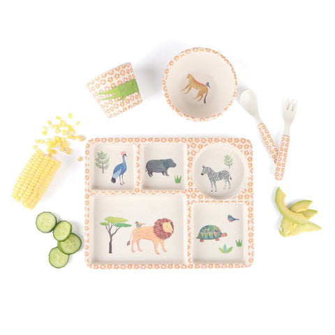 On Safari 5 PC Bamboo Set