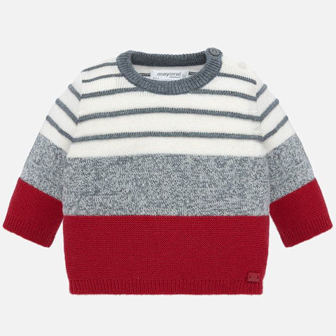 Striped sweater - Red