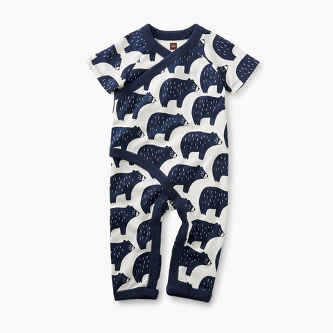 Wrap Romper -  Black Bears
