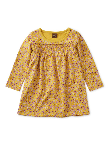 Printed Smocked Baby Dress - Valley of the Flowers