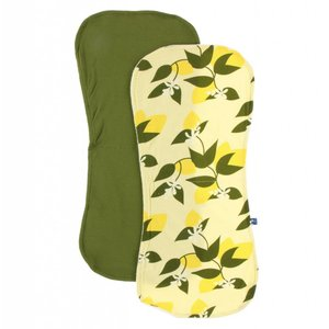 Burp Cloth Set - Lime Blossom Lemon Tree and Pesto
