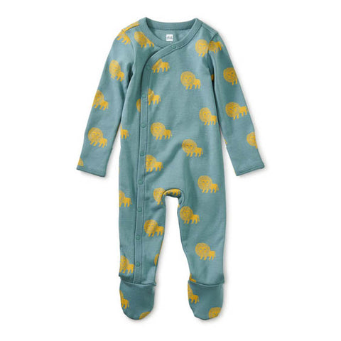 Footed Baby Romper: Lions