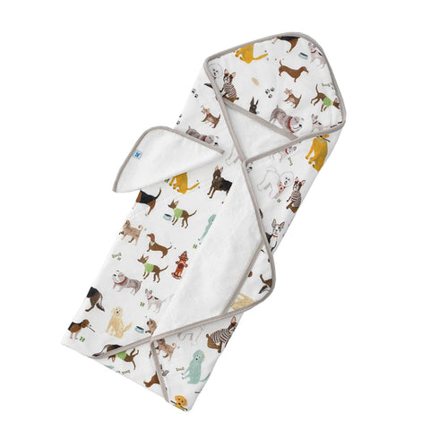 Woof Hooded Towel & Wash Cloth Set