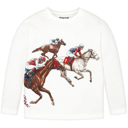 Race horse Long Sleeve Tee