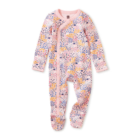 Footed Baby Romper: Rainbow Forest