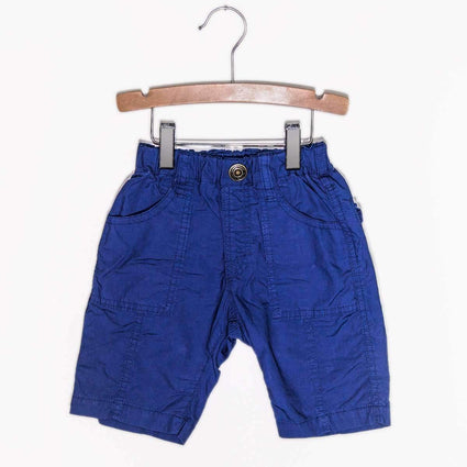 Cotton Typewriter Cloth Shorts Navy Blue