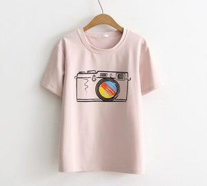 Women's Retro Camera T-shirt