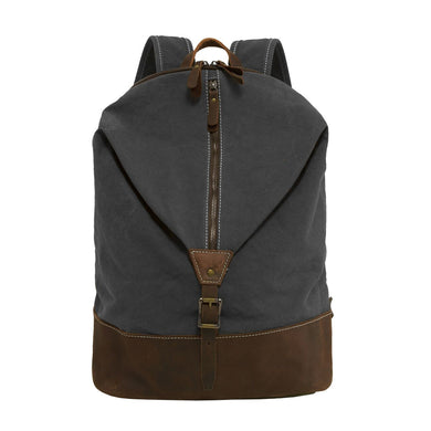 Canvas & Genuine Leather Laptop Backpack
