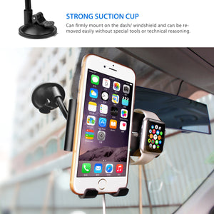 Dual Magnetic Car Mount for Apple Watch and iPhone