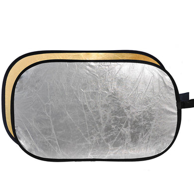 2 in 1 Gold-Silver Light Reflector 90x120cm / 35x47in