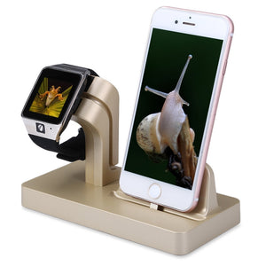 Dual Charging Dock for Apple Watch and iPhone