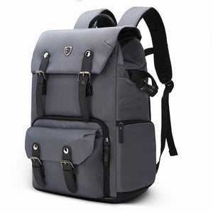 Canvas & Leather Retro Camera Backpack