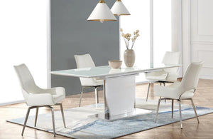Radiant White on White 5pc Dining