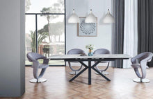 White Marbled Dining with choice of Chairs