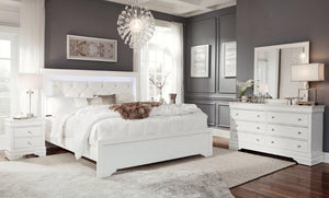 Pompei Metallic L.E.D Bedroom Set