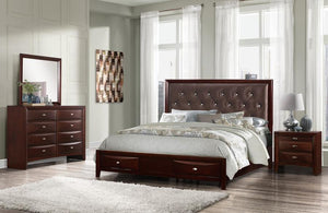 Salerno/Linda Jeweled Bedroom Set