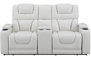 Reclining Power Blanche White Living room