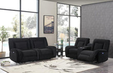 Reclining Power Black Velvet Living room