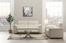 Stationary Leather Gel Blanche White Living room