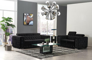 Stationary Movable Jeweled Velvet Living room