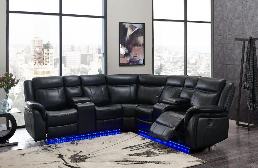 Reclining Power L.E.D. Sectional