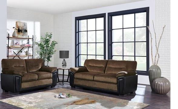 Stationary two tone Plush Living room