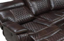Reclining Brown Detailed Sectional