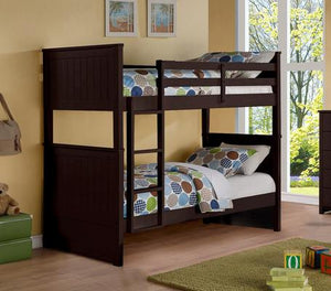 Twin/Twin Panel Bunkbed Espresso