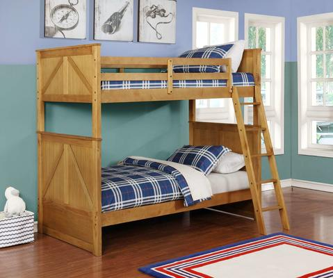 Twin/Twin Stackable Unstackable Wood Bunkbed