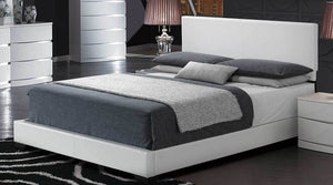 White PU Gloss Bed 8103-W