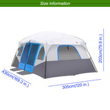 EXTRA LARGE FAMILY TENT - 2 x BEDROOMS