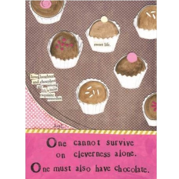 """One cannot survive..."" Card"