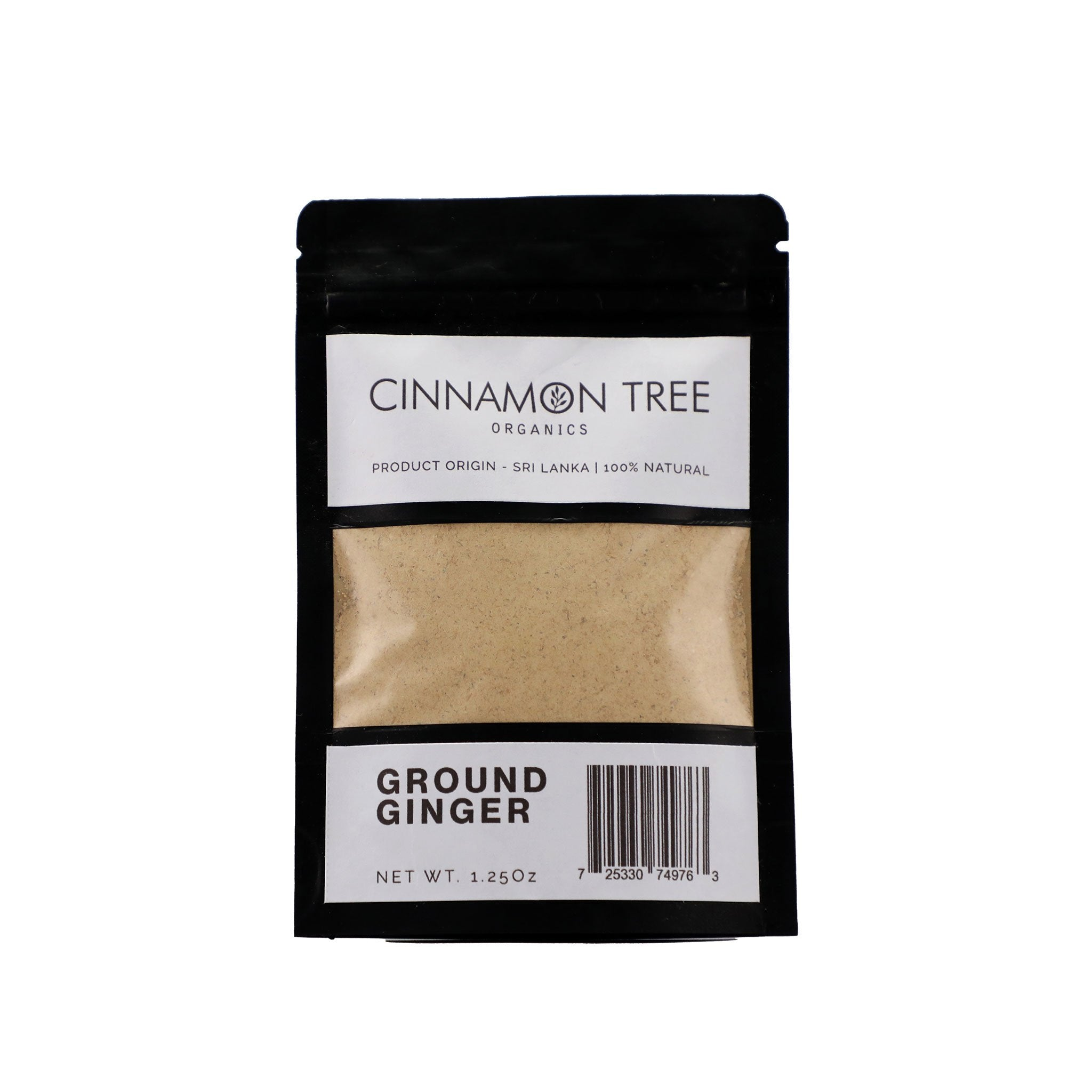 Ground Ceylon ginger 1.25 Oz pack