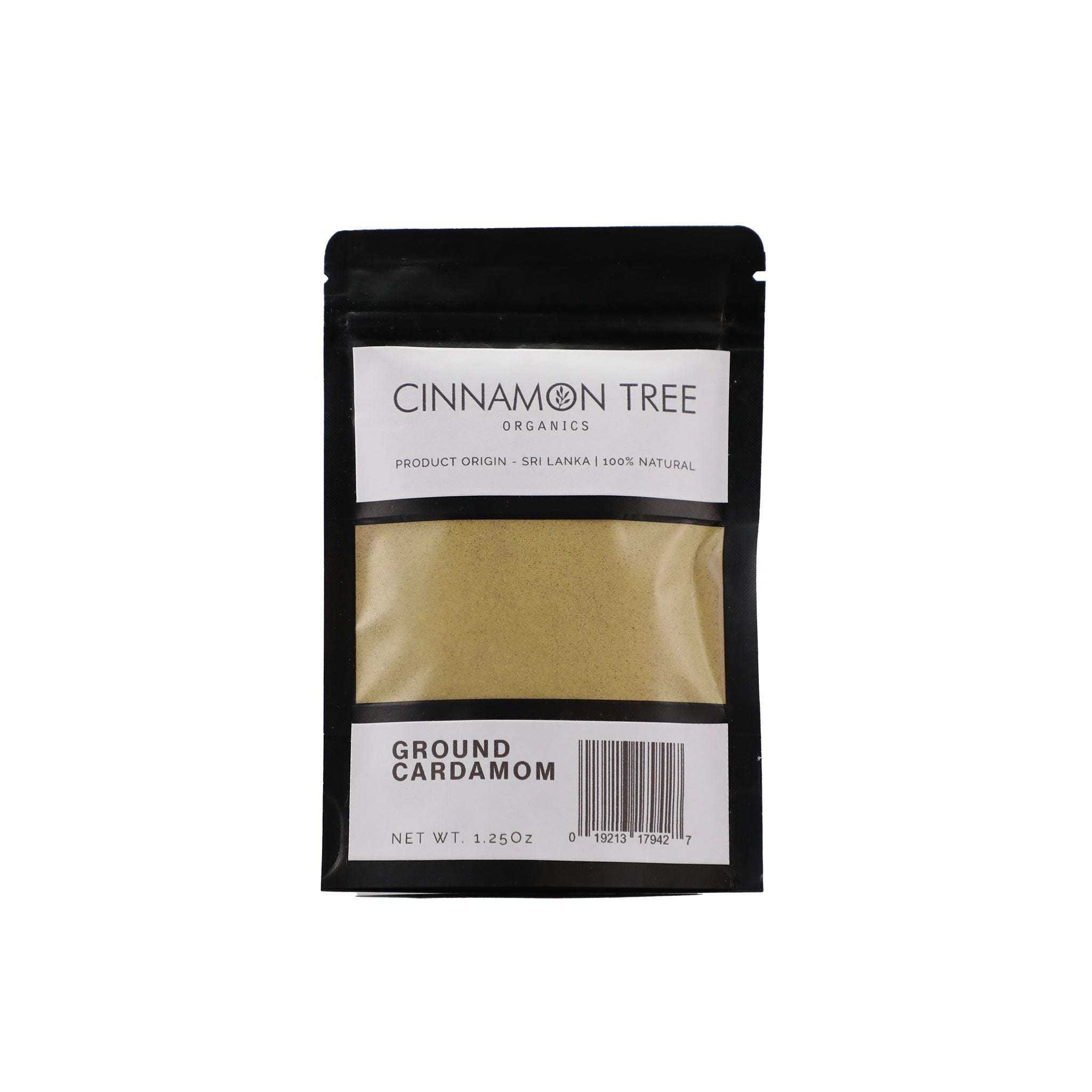 Single origin ground green cardamom 1.25 Oz pack