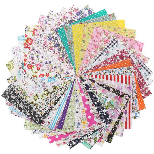 Hot Sale 50Pcs/lot Floral Cotton Fabric Cloth for Patchwork Quilting Sewing Home Needlework Crafts Clothes DIY Material 10*10cm