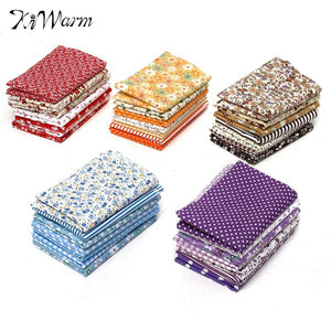 On Sale 7Pcs/set Multicolor Quilting Fabric Cotton Cloth Table Patchwork Textiles for Sewing Handmade DIY Craft Material 49*49cm