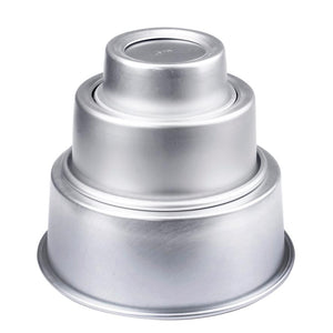 Round Cake Mold Non-Stick Metal (4'', 6'' or 8'')