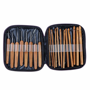 20Pcs/Set Bamboo Crochet Hooks