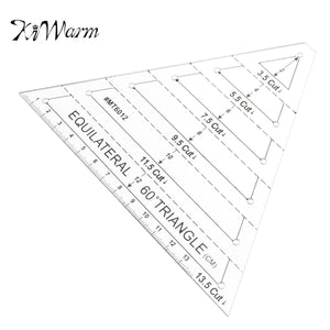 KiWarm 1pcs Durable Patchwork Ruler Acrylic Material Multifunction Triangle Quilting Ruler Shaped Like A Trapezoid Sewing Tool