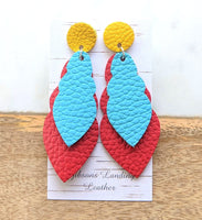 Bold Leather Earrings