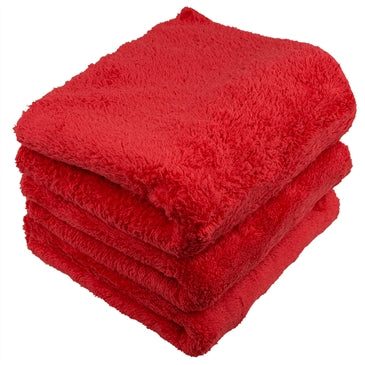 LONG PILE EDGELESS MICROFIBER TOWELS 16 x16 (3 Pack)