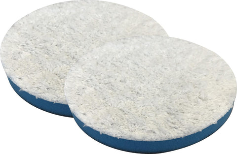 3 Inch SM Arnold Blue Microfiber Finishing / Polishing Pads