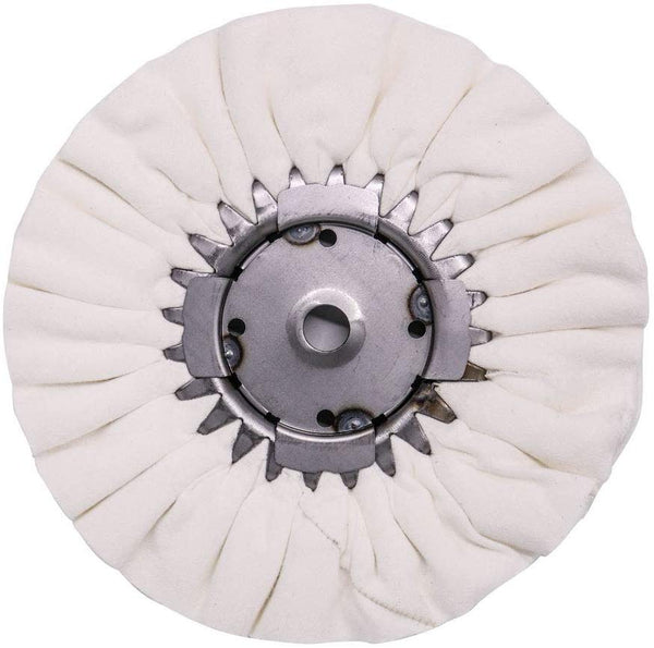 "9"" X 3"" X 5/8"" Airway Buffing Wheel for Metal Polishing Aluminum & Stainless Steel for Wheels, Tanks & Bumpers (Flannel)"