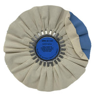 White/Blue Super Shine Untreated Cloth Finish Airway Wheel 10″