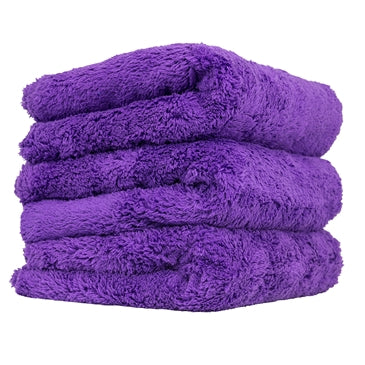 "Happy Ending Edgeless Microfiber Towel, Purple, 16"" x 16"" (3 Pack)"
